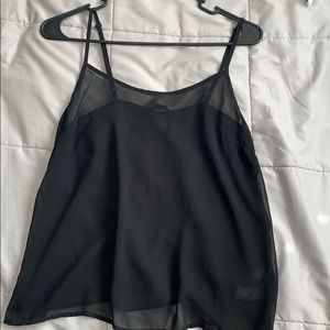 Black polyester tank top